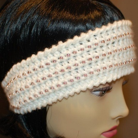 Beaded Crochet Headbands