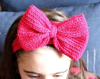 Bow Tie Shaped Crochet Headbands