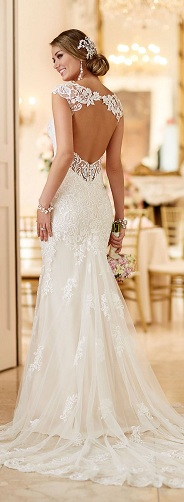 Back open Wedding Dress