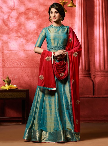 silk salwar suit