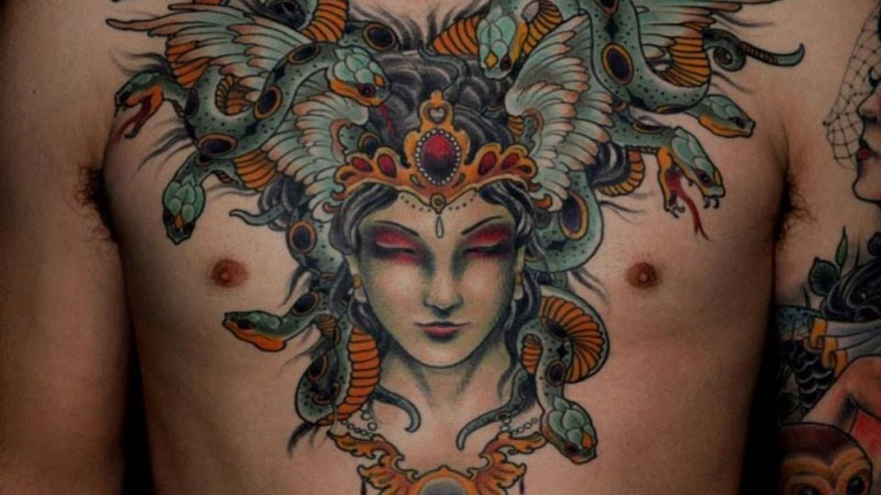 9 Beautiful And Scary Medusa Tattoo Designs Styles At Life