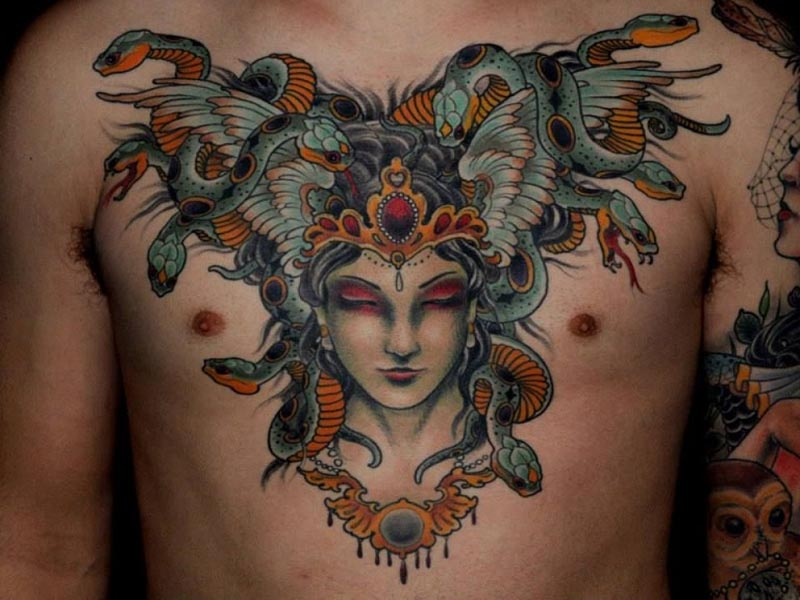 Beautiful and Scary Medusa Tattoo Designs