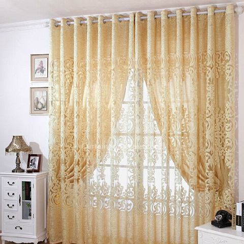 9 Beautiful And Best Embroidered Curtains With Images