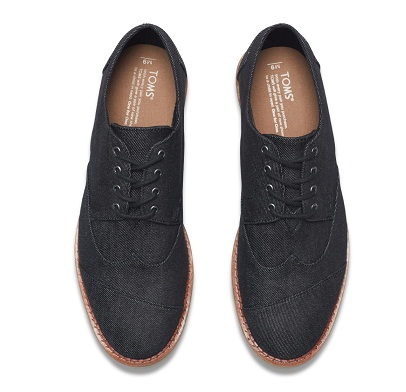 Black Denim Brogues
