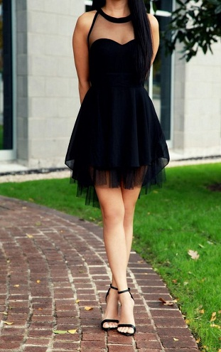 9cef033dd9a This is a contemporary take on the little black dress that incorporates  tulle fabric that is trending in a big way right now. This is the ideal  ensemble to ...