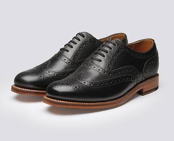 Black Calf Leather Brogues