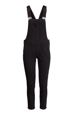 Black casual Bib overall