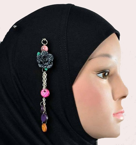 Black Colored Islamic Hijab Pins