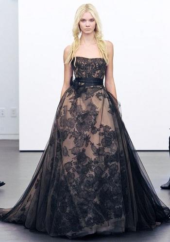 Black Netted Wedding Dress
