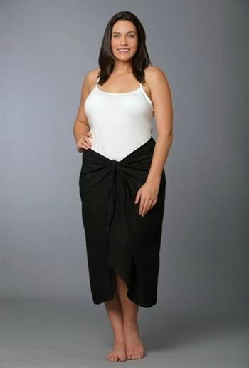 Black Oversized Black Sarong