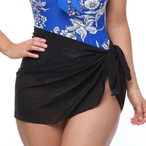 Black Short Sarong
