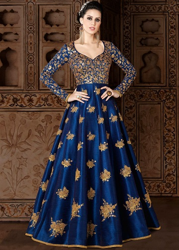 blue salwar suits