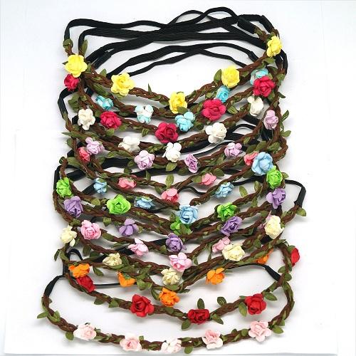 Bohemian Flowery Elastic Headband