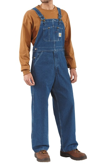 Branded Denim Bib overall