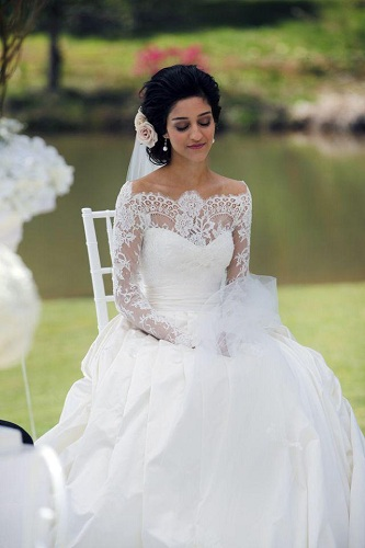 Bridal Dress with Lace Sleeves