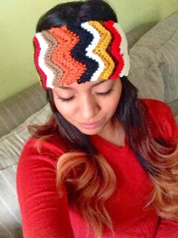 Chevron Crochet Headbands