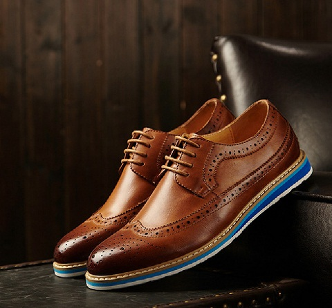 Casual Leather Brogue