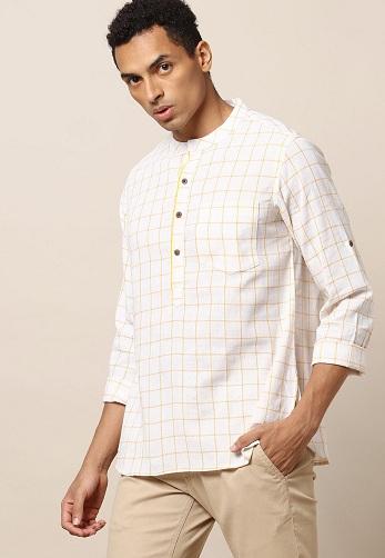 Checkered Kurta Shirt