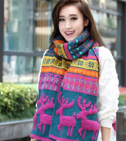Christmas Knitted Scarf