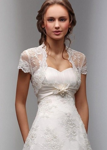 Coat Attached Wedding Dress