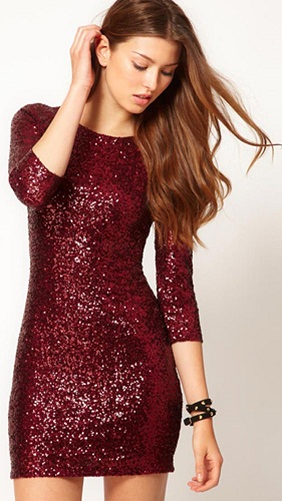a4b5a111f45 Every woman s wardrobe should have at least one stunning cocktail dress for  festive parties and this red sequined dress is sure to serve as inspiration.