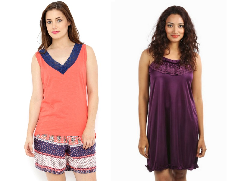 Comfortable Sleeveless Nighties for Womens
