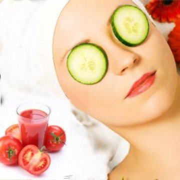 Cucumber and Tomato Face Mask