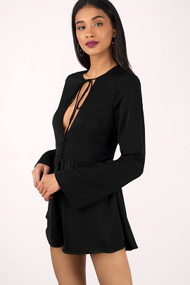 Cute Black Romper