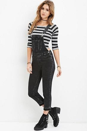 Designer Jeans Black Overalls