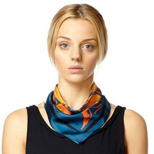 Designer Small Square Scarf