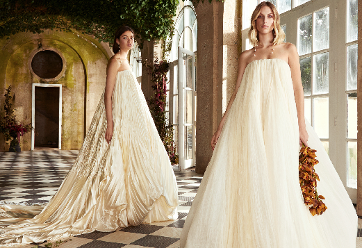 Elastic Attached Wedding Dress