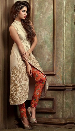 Stand Collar Kurta Designs : Different western kurti designs collection for women