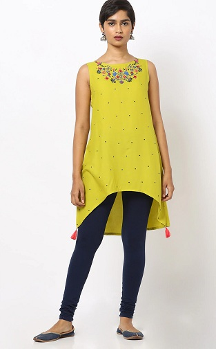 Embroidery Short High Low Kurti