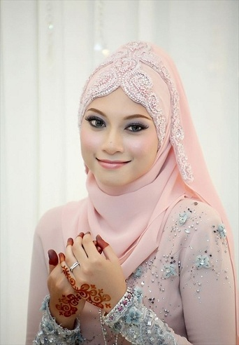 Fancy Silk Wedding Hijab