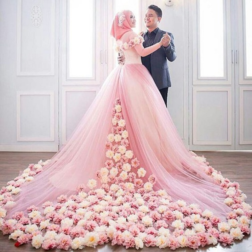 Floral Wedding Hijab