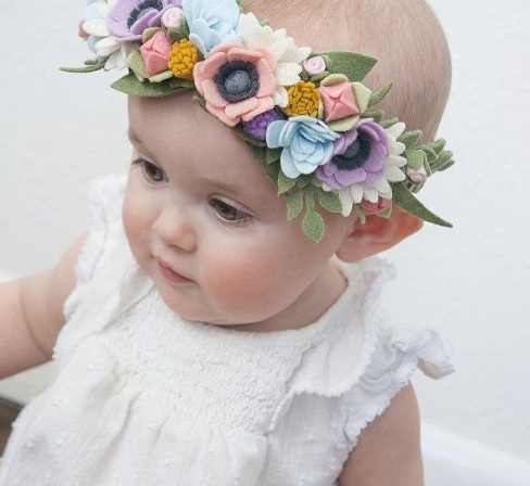 Try to those remarkable hair accessories to your sweet little baby made up  of colorful flower ideas with splendid glimpse. This will be a designer  hair band ... 8879afe1794
