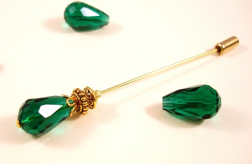 Green Medium Size Hijab Pin