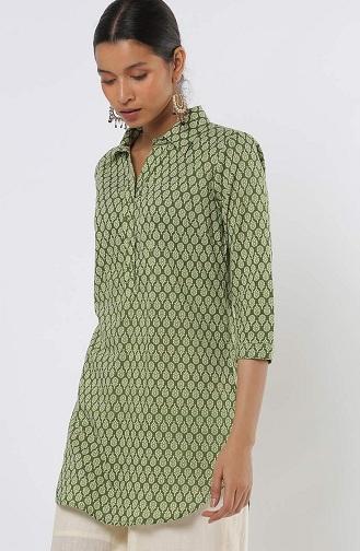 Green Shirt Kurta