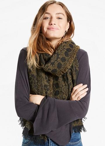 Green Soft Scarves for Women