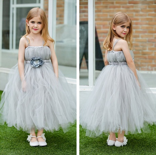 3bcf05453f74 This is a super cute grey colour frock for your kid. It is made of crepe  material