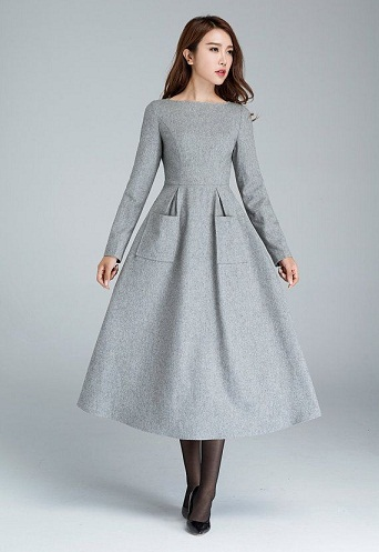 9 New And Trendy Grey Color Frock Designs Styles At Life