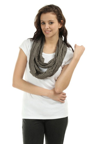 Grey Snood Scarf