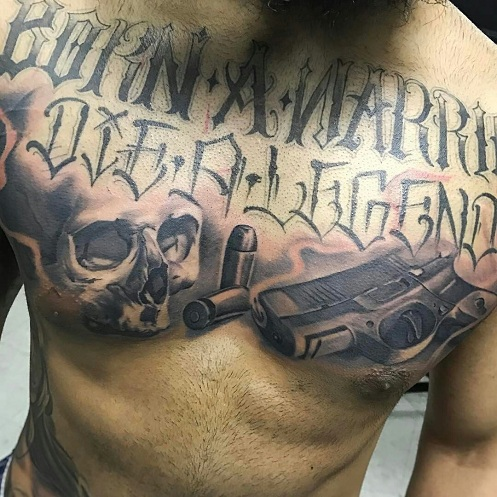0c5979ab4d4a5 18 Most Creative Gun Tattoo Designs With Pictures | Styles At Life
