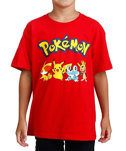 f5871384 This series of collection are preferred by the boys as a whole. The bright red  Pokemon T shirt for boys is simply outstanding. It can be considered as the  ...