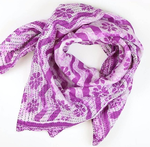 Handmade Cotton Square Scarf