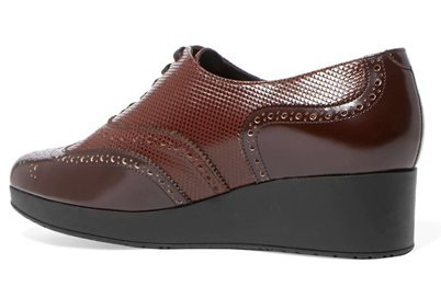 High Heel Leather Brogues for Women