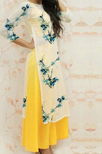 High Side Slit Western Kurti
