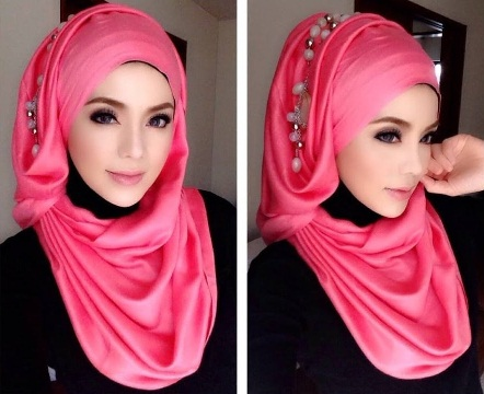 Hijab Styles for Long Face