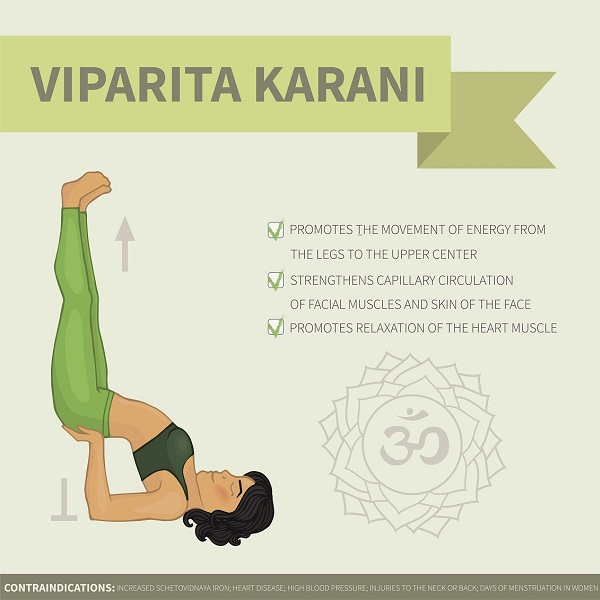 How To Perform Viparita Karani Asana and Its Health Benefits