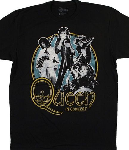 bedba83d This is also a plain black queen tee shirt which is meant for both the male  and female genders. Along with the word queen, four musicians performing a  ...